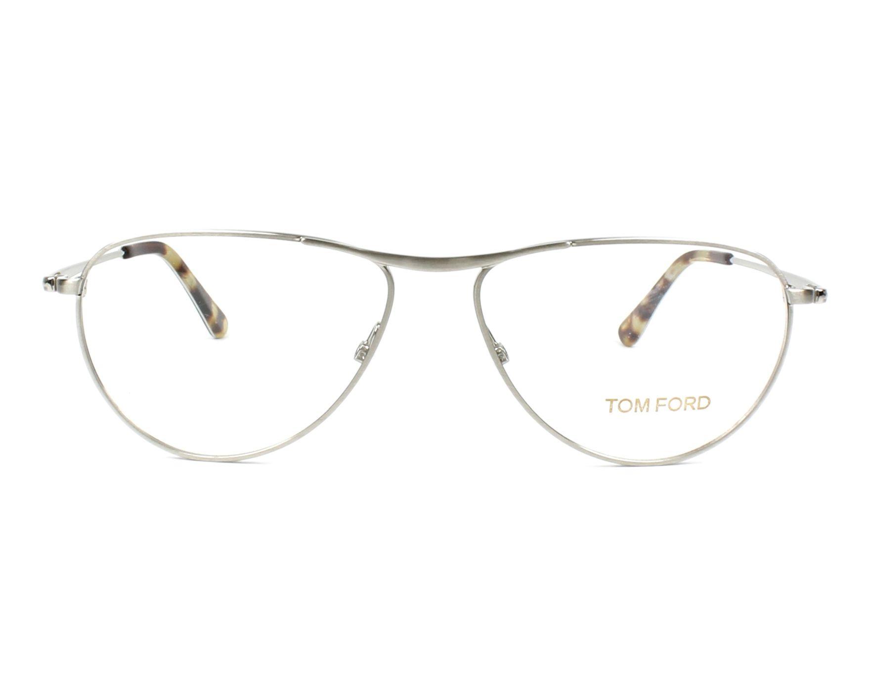9ab70258e286b Lunettes de vue Tom Ford TF-5210 016 54-14 Argent vue de face