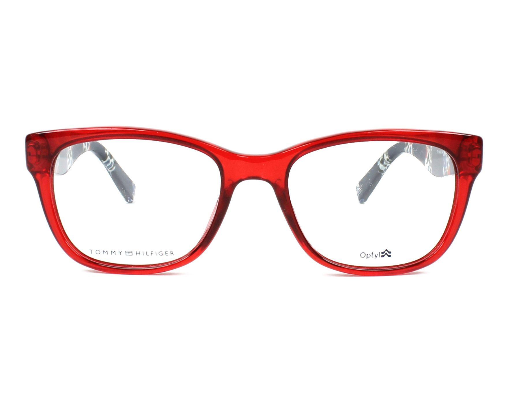 lunettes de vue tommy hilfiger th 1498 c9a rouge. Black Bedroom Furniture Sets. Home Design Ideas
