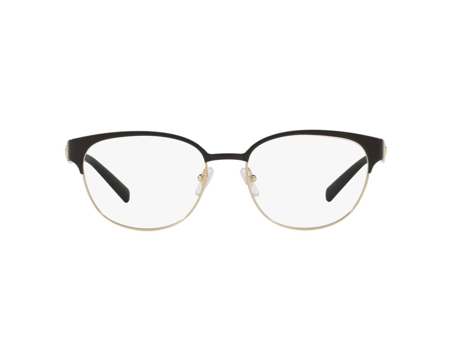 bc4aa49f2e Lunettes de vue Versace VE-1256 1371 53-17 Noir Or vue 360 degrés