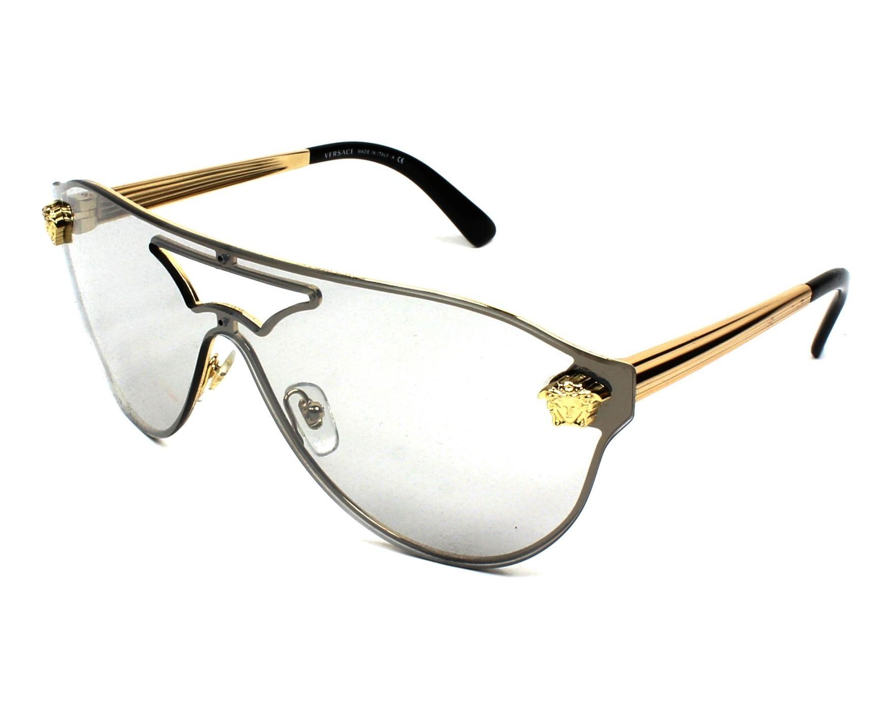 924167cf297 Lunettes de soleil Versace VE-2161 1002 6G 99- Or vue de profil