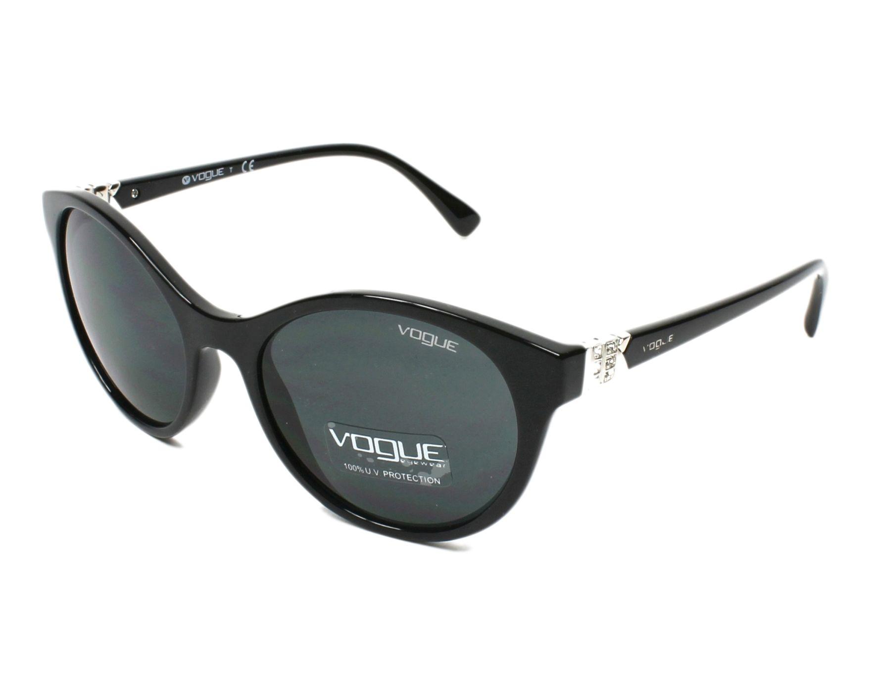 Lunettes de soleil Vogue VO-5135-SB W44 87 52-18 Noir 98ca075d941d