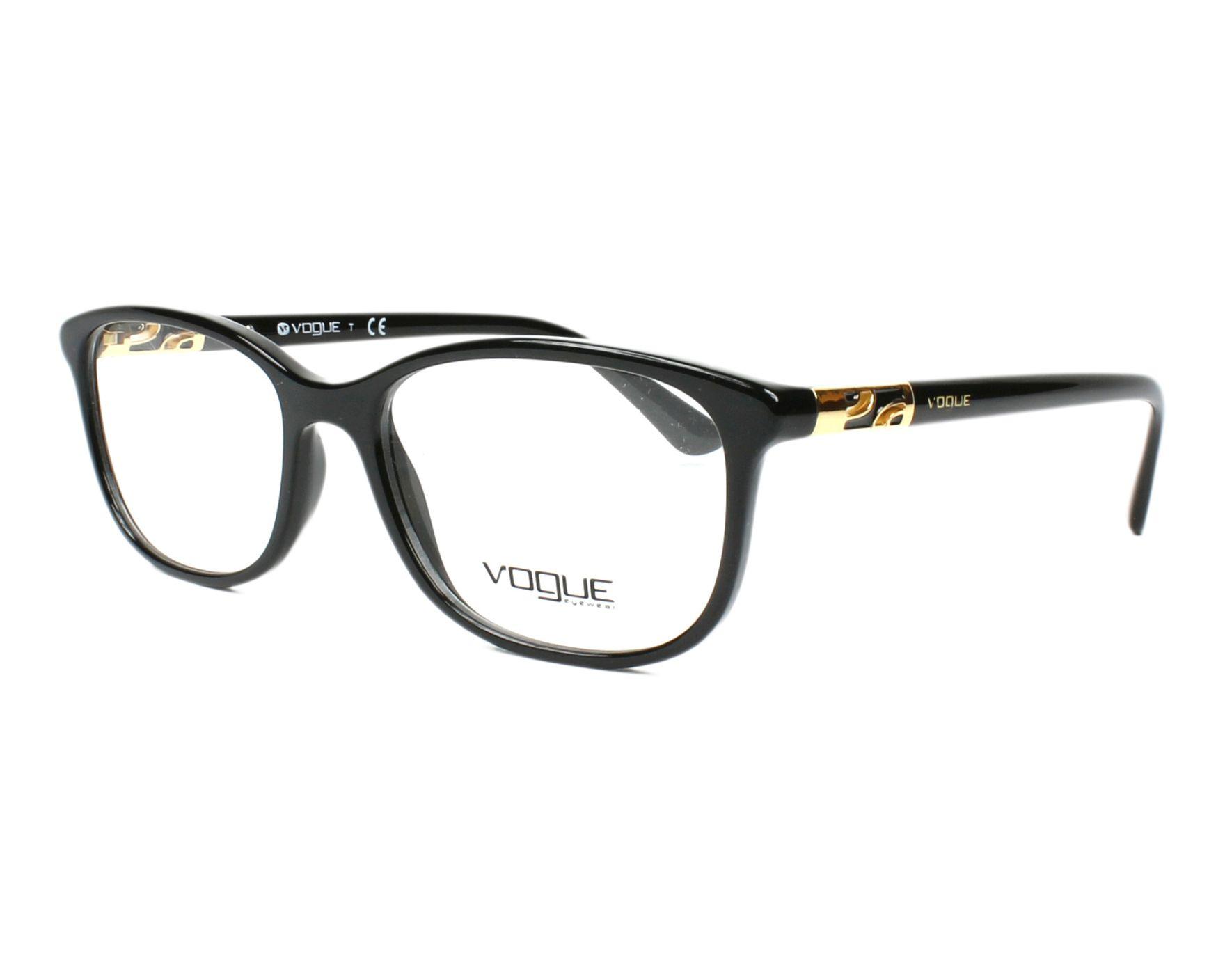 addbd9e880 Lunettes de vue Vogue VO-5163 W44 51-16 Noir Or vue de profil