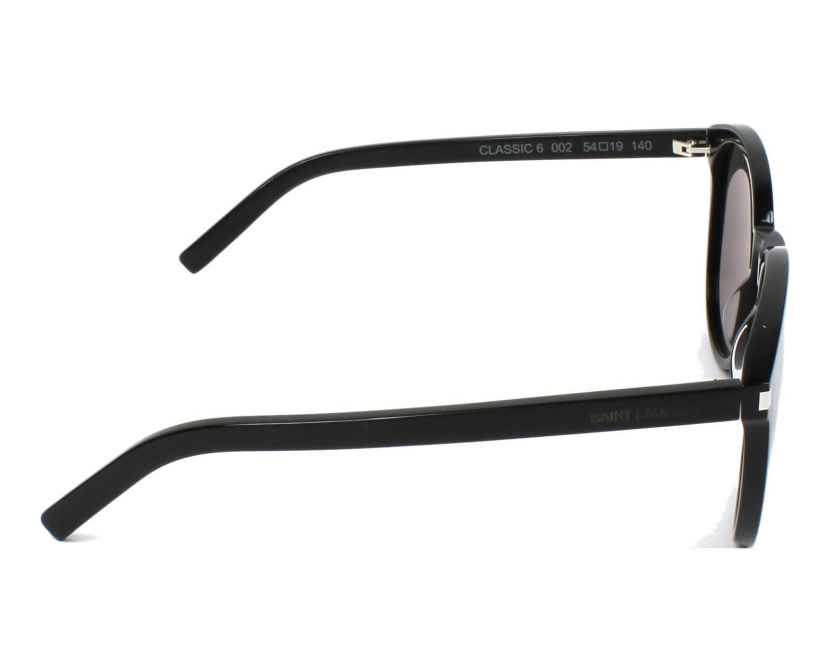 bdcc6b3b1cdb0 Lunettes de soleil Yves Saint Laurent CLASSIC-6 002 54-19 Noir vue de