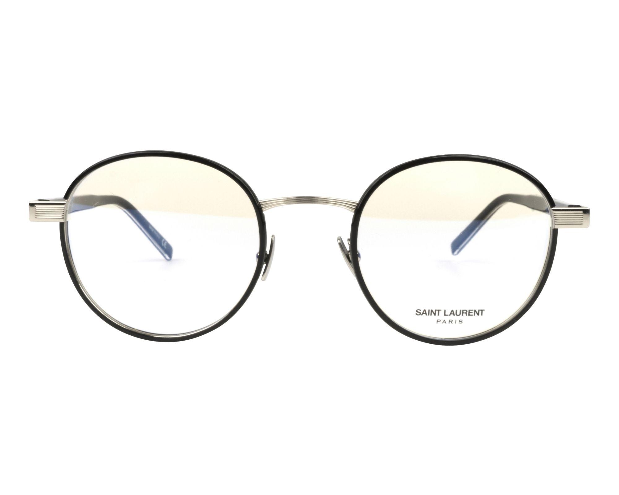 12155742737 Lunettes de vue Yves Saint Laurent SL-125 001 49-22 Noir Argent vue