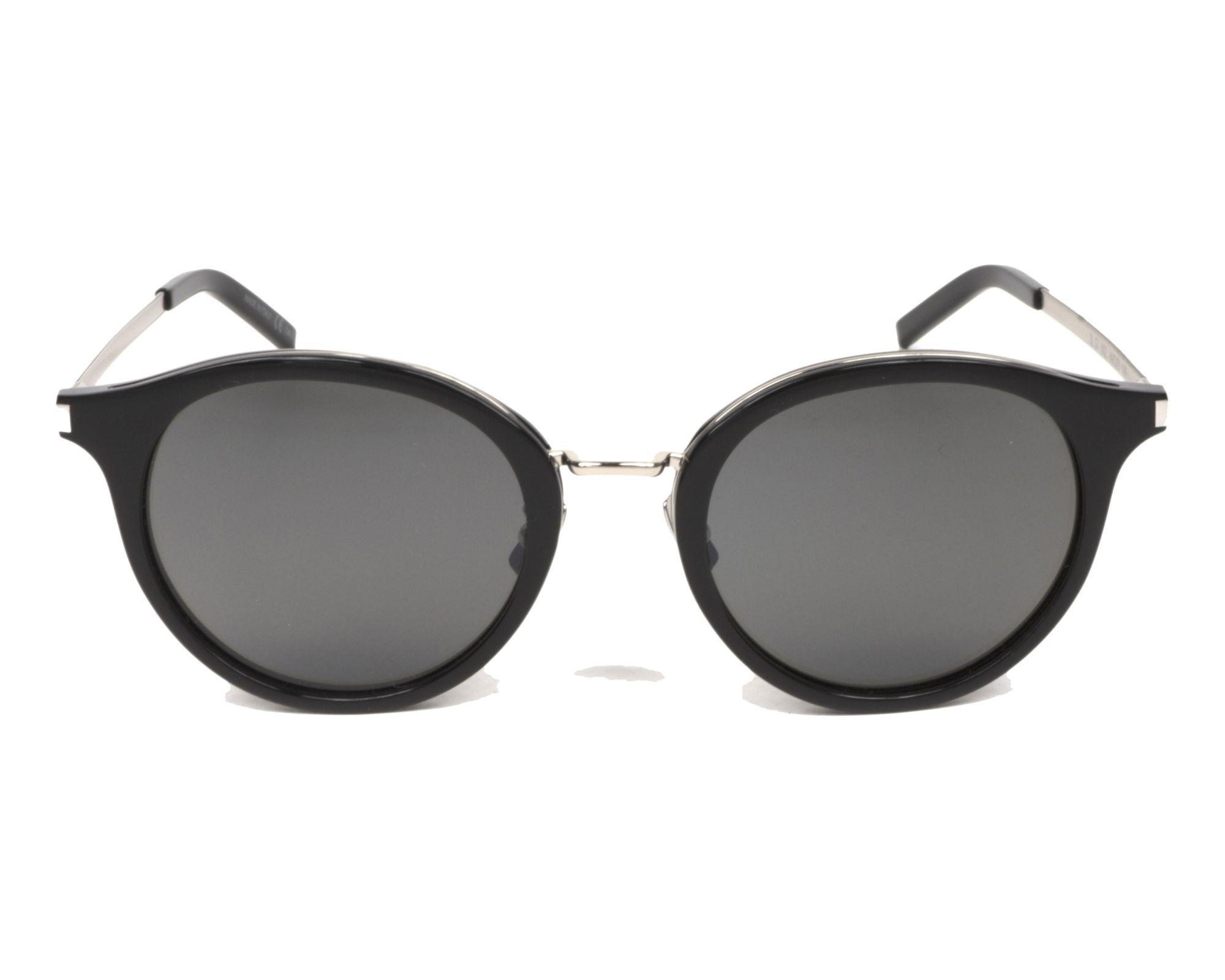 lunettes de soleil yves saint laurent sl 57 002 noir avec