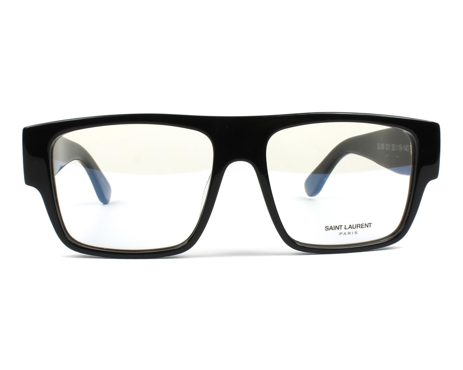 395aea05583f3 Lunettes de vue Yves Saint Laurent SLM-6 001 - Noir vue de face