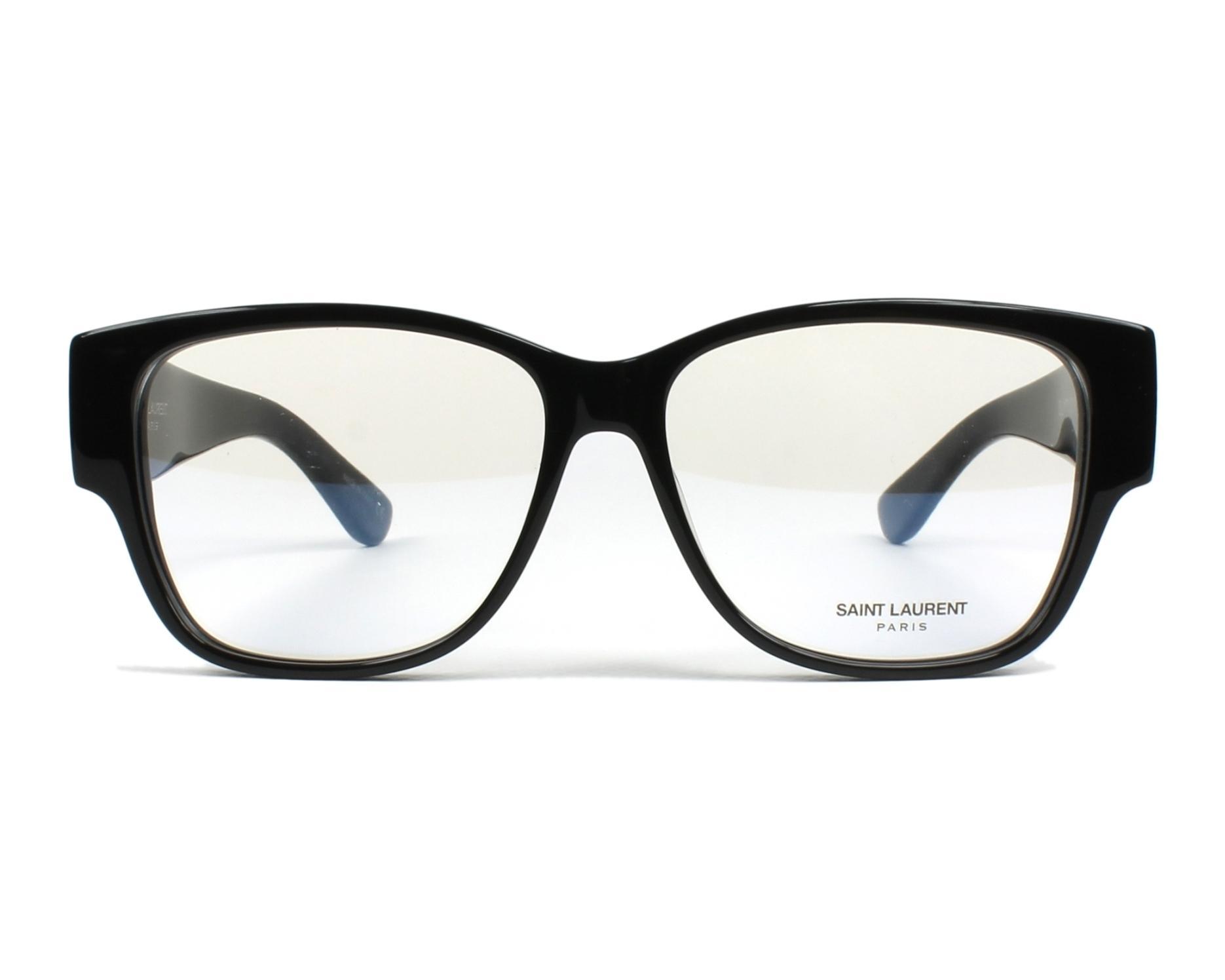 d0ffefa1bc574 Lunettes de vue Yves Saint Laurent SLM-7 001 55-14 Noir vue de